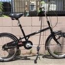 オーバーホール済み 20インチ 自転車  ☠ドクロマーク 黒 シン...