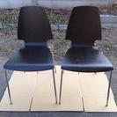 美品★IKEA木製チェアー二脚セット/椅子VILMAR
