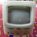 0円で、レトロなスケルトン白黒アナログTV、ラジオ付き