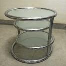 ガラス天板 サイドテーブル