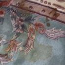 トラディショナル ラグ (花柄)ウールラグ