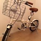 16型折畳自転車(カゴ・取扱説明書付き)