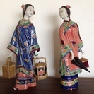 【箱付き】陶器のお人形を2点セットで