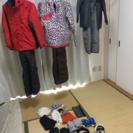 【家族向け】スキーウェア、帽子、手袋、ゴーグル、雪山用子供靴(俊足)