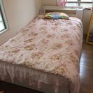 セミダブル 収納ベッド 組み立て式 マットレス付き