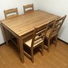 IKEA 美品 ダイニング テーブル & チェア4脚 セット チェ...