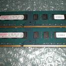 デスクトップ用メモリ DDR3 4GB(2GBx2GB)