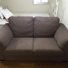 重厚感のあるソファ差し上げます。
