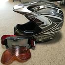 ヘルメットとゴーグルのセット
