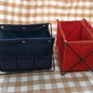 インテリア 雑貨 小物 収納 ラック 赤青セット