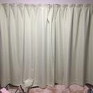 広いリビング用のライトグリーン色 カーテン