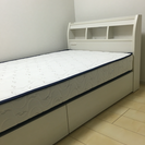 【美品】シングルベッド&マットレス(収納つき)