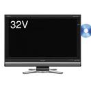 AQUOS 32型ブルーレイ内臓テレビと無印良品テレビボード