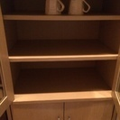 ナチュラル木目 食器棚