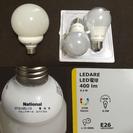 【Panasonic/IKEA】E26口径 LED白熱色電球 3つセット