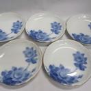 【大倉陶園】ブルーローズ◆ケーキ皿◆平皿◆5枚セット◆未使用品