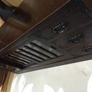 昭和レトロ◯装飾付き大型収納棚◯テレビ台にも最適◯引き取り限定