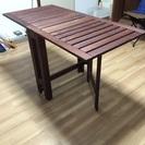 テラス用折り畳みテーブル&チェア