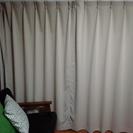2ヶ月使用 美品 1級遮光カーテン、ミラーレースカーテンセット ベ...