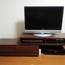 使用2ヶ月美品 伸縮 木製テレビ台 AVボード ダークブラウン
