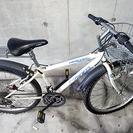 白 子供用 マウンテンバイク 荷台付き パンク直せば使えます