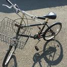 ☆無印良品☆自転車 20型 3段ギア 黒色 カゴと鍵付き