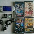 PSP 2000盤 本体 ソフト付きセット バッテリーカバー 欠品