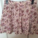 差し上げます! ピンクの花柄スカート