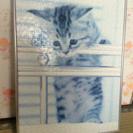 猫のパズルの額