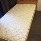 収納付きシングルベッド マットレスセット