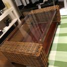 ガラステーブル(アジアン風)