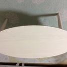 おしゃれなセンターテーブル 折れ脚 ホワイトウォッシュ