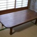 アンティーク/昭和骨董 檜材の大ぶりな角ちゃぶ台 さしあげます