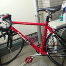 真っ赤なロードバイク一式セット