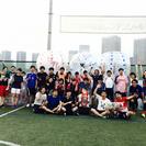 バブルサッカーにチャレンジ@豊洲