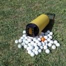 値下げ!ゴルフボール収集器+練習ボール74個
