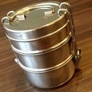 [中古] インド製ステンレス3段弁当箱