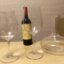 デキャンタとリーデル ワイングラス