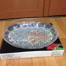 HOYAガラス 楕円皿