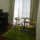 【無料】カフェテーブルと椅子3脚