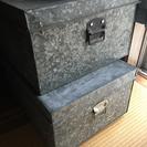 レトロ箱 収納 アルミ