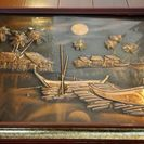 銅板のレリーフ(浮き彫り)
