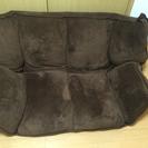 茶色 ローソファ ベッドにもなります