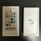 ★iPhone5s 64GB 空箱★付属のイヤホン付き