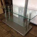 ガラス製 テレビ台 AVラック