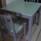 【無料で差し上げます】 二人用のダイニングテーブル&椅子