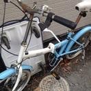 引き取り限定 水色の自転車