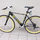 クロスバイク 黒&黄