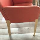カッシーナ オレンジ生地袖付きチェア  椅子