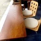 長テーブル 2つ